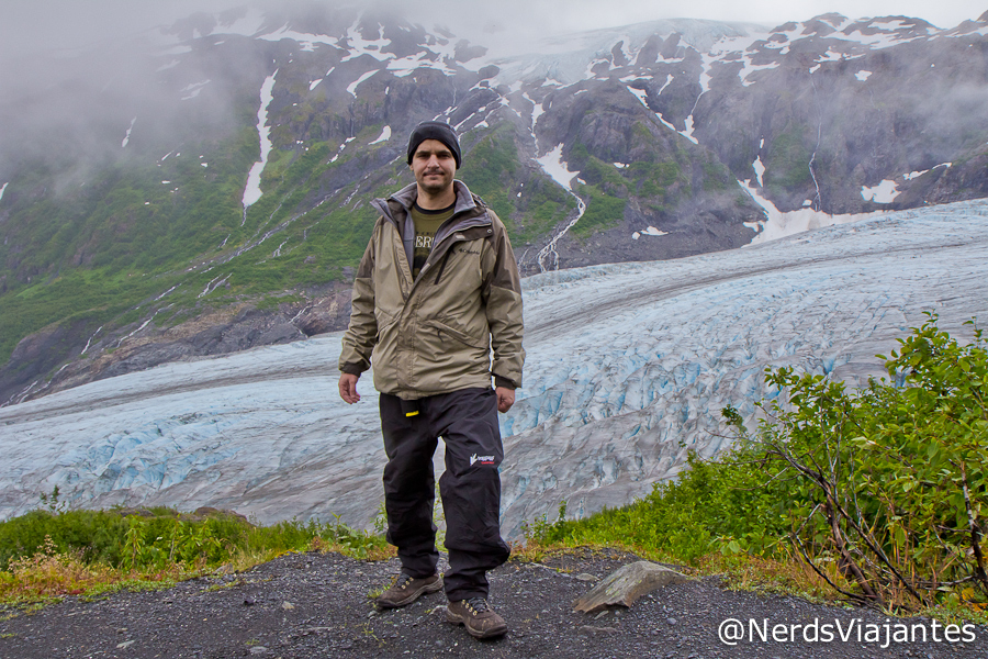 Nerd na Trilha do Harding Icefield - Kenai Fjjords National Park