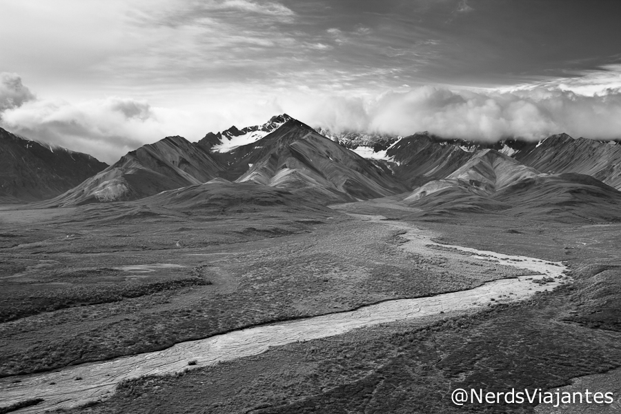Vista do Polychrome Pass Overlook - Denali National Park