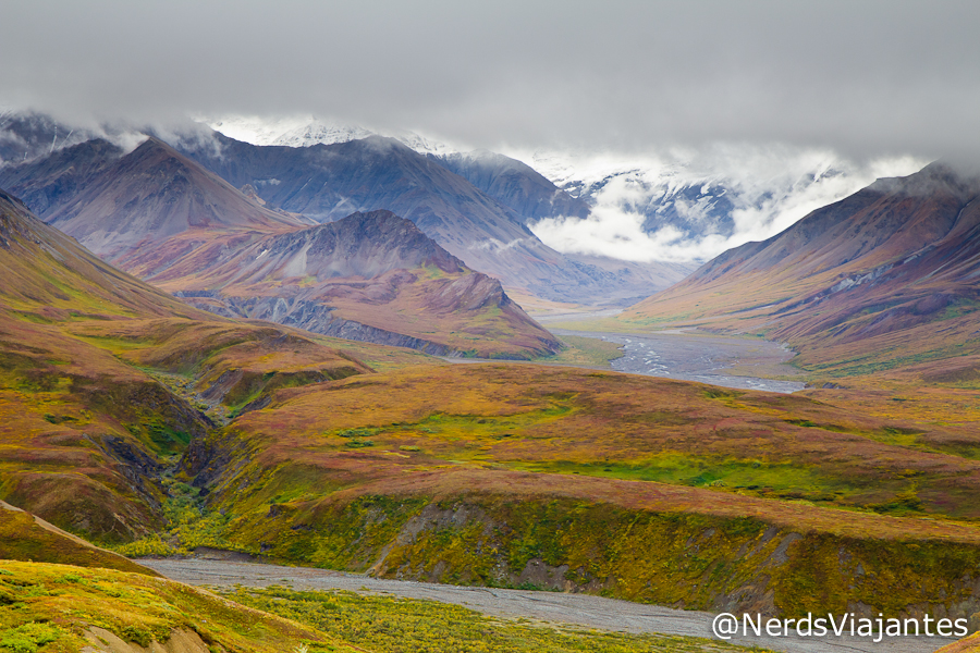 Vista do Eielson Center - Denali National Park