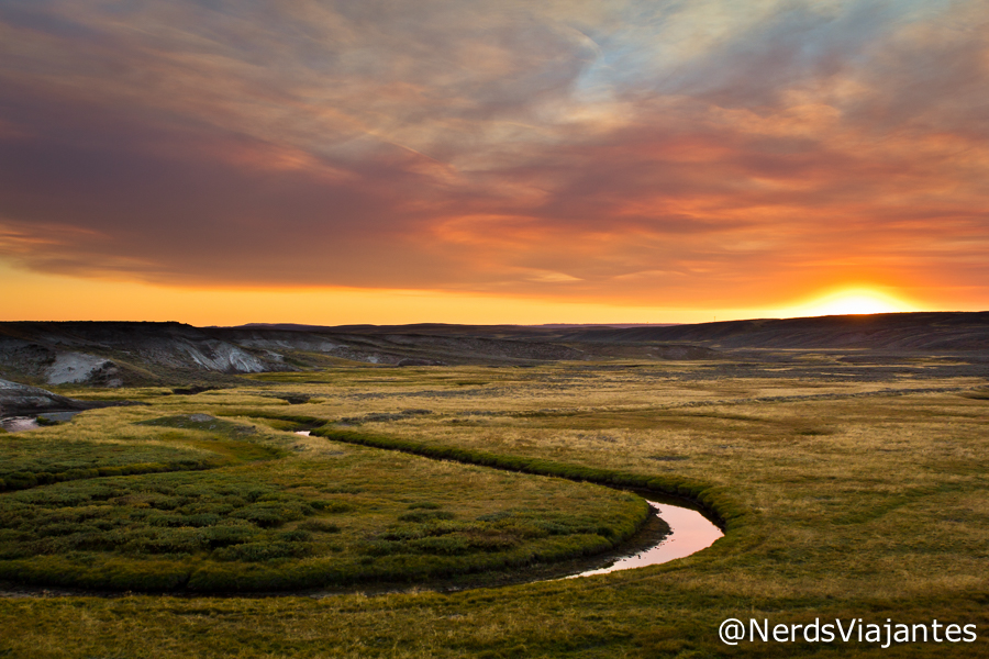 Entardecer no Hayden Valley - Yellowstone National Park