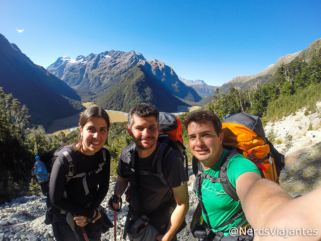 Nós, Oscar e as montanhas e vales do Mount Aspiring National Park - Nova Zelândia