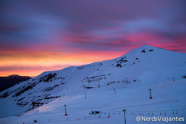 Entardecer no Valle Nevado - Chile