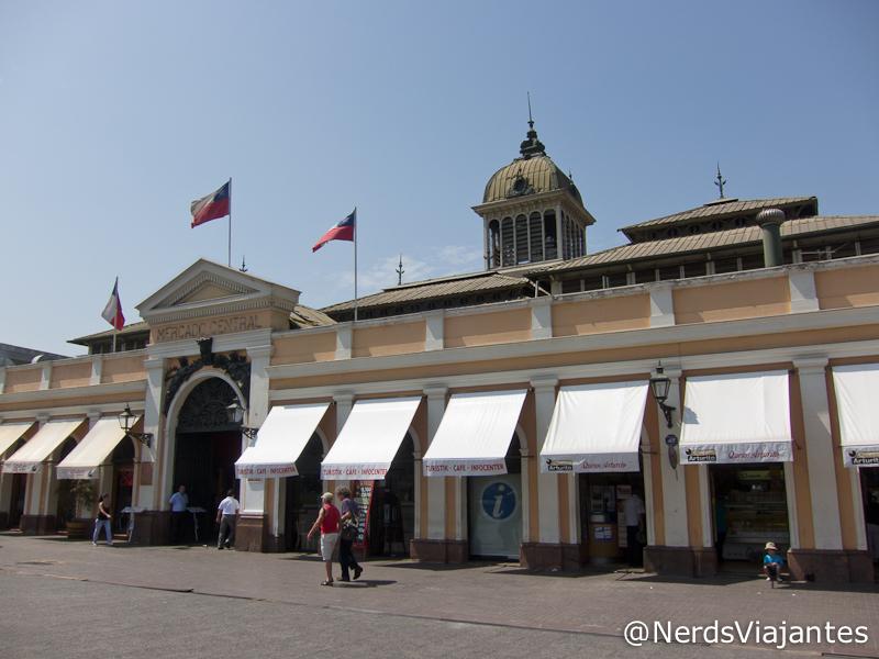 Fachada do mercado municipal de Santiago