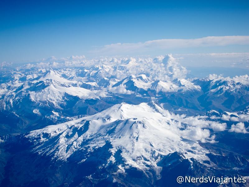 Cordilheira dos Andes visto da janela do avião