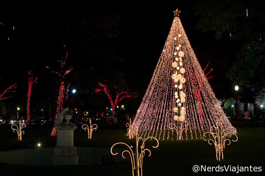 Decoração de Natal da Praça da Liberdade
