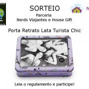 Sorteio - Porta Retrato Lata Turista Chic