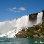 Niagara Falls - Lado Americano visto do Canadá