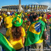 Torcida brasileira no jogo Brasil x Chile na Copa do Mundo de 2014 - Brasil