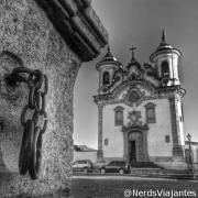 Pelourinho e a Igreja Nossa Senhora do Carmo - Mariana - Minas Gerais