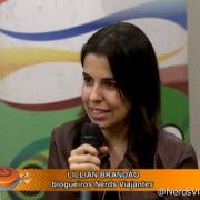 Nerd falando sobre viagens no Programa Caleidoscópio da TV Horizonte