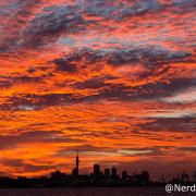 Pôr do sol em Auckland - Nova Zelândia