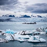 Lagoa de icebergs Jokulsarlon, no sul da Islândia