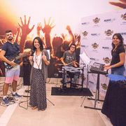 Blogueiros participando do Music Lab no Hard Rock Hotel & Casino Punta Cana
