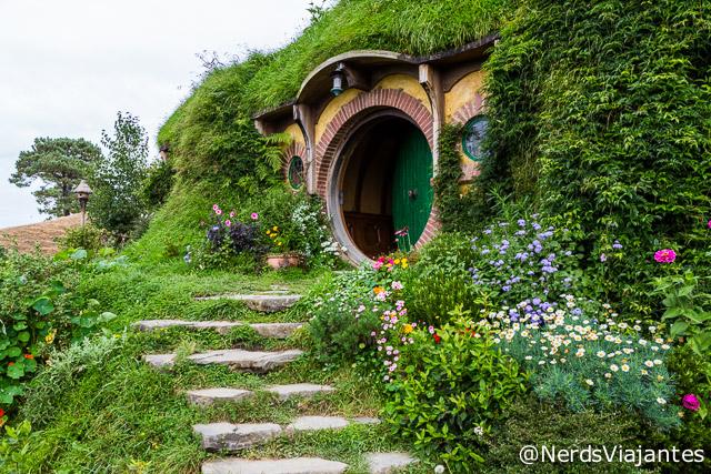 Casa do Bilbo em Hobbiton, cidade dos Hobbits na Nova Zelândia
