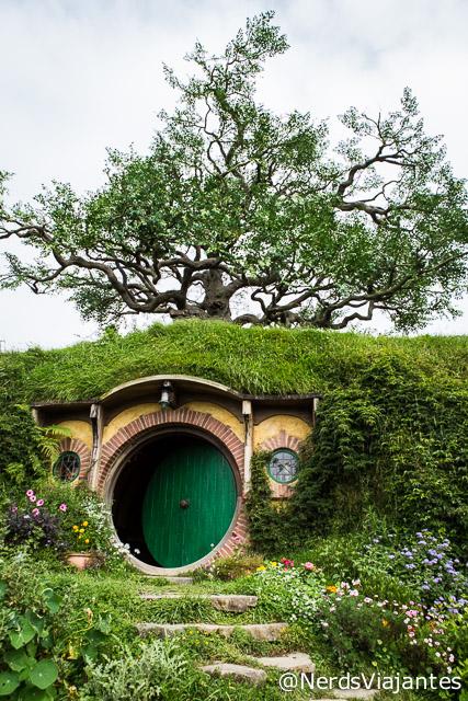 Casa do Bilbo Bolseiro na cidade dos Hobbits na Nova Zelândia