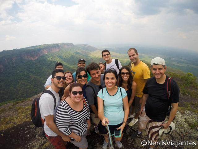 Turma de blogueiros na Ponta do Campestre, na Chapada dos Guimarães - Mato Grosso - Brasil