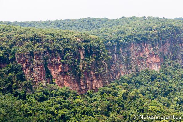 Detalhe dos paredões da Chapada dos Guimarães - Mato Grosso - Brasil