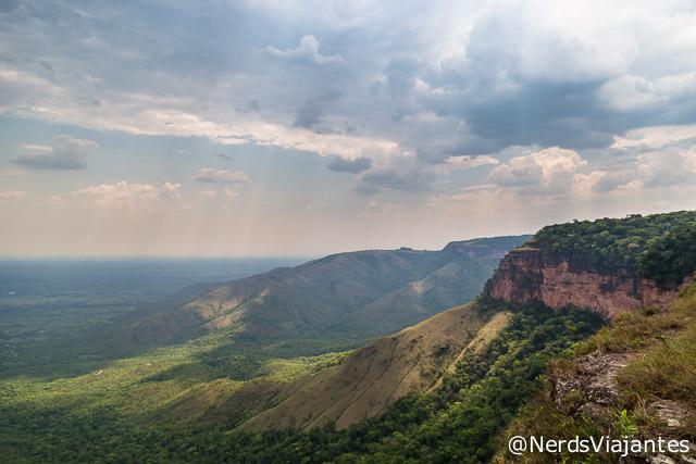 Vista da Ponta do Campestre, na Chapada dos Guimarães - Mato Grosso - Brasil