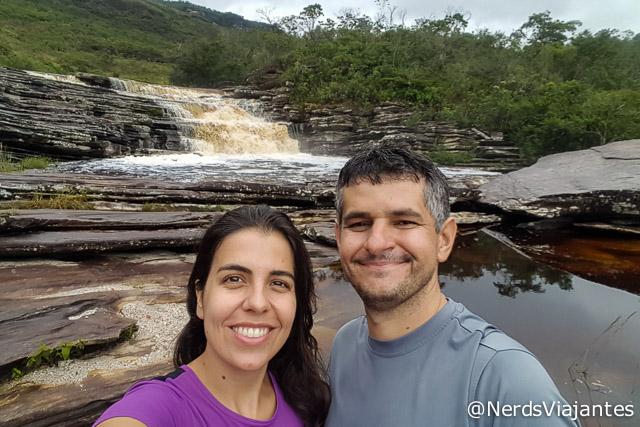 Selfie molhada na Cachoeira do Intancado, Cabeça de Boi - Minas Gerais